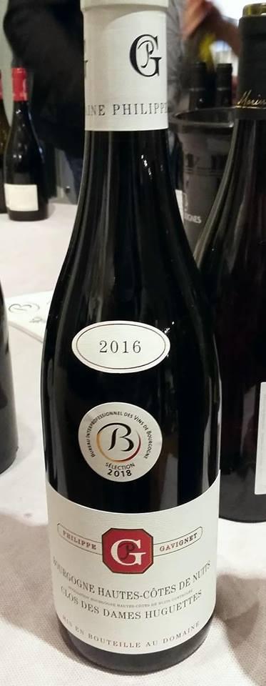 Bouteille vin Bourgogne Hautes Côtes de Nuits Clos des Dames Huguette 2016